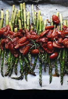 asparagus + tomato