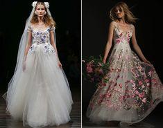 Свадебные платья цветные 2018