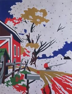 Andy Warhol, Do-it-Yourself (Landscape), 1962 acrylic on canvas, 178 x 137 cm…