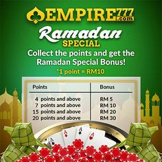 """We offer various kind of exciting """"Online Gaming Website"""" with all-inclusive fun and excitement Casino News Events to all our player among Asia. Top Online Casinos, Best Online Casino, Best Casino, Casino Promotion, Ramadan, Special Events, Tips, Counseling"""