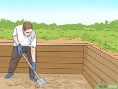 How to Build a Strong Retaining Wall with Treated Post. The instructions for building a retaining wall out of treated post aim to help ambitious homeowners and do-it-yourselfers tackle this task. If you appreciate the satisfaction. Wooden Retaining Wall, Backyard Retaining Walls, Retaining Wall Design, Building A Retaining Wall, Backyard Patio, Backyard Projects, Outdoor Projects, Outdoor Ideas, Garden Projects
