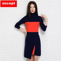 zocept Fashion New Slim Clothing Female Long Sweater Knitted Cashmere Blend  Turtleneck Pullovers Women Winter Soft 2132f2309a1a
