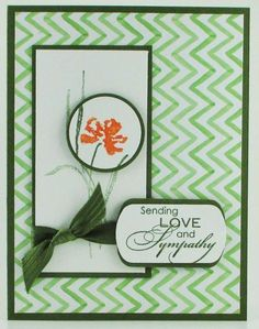 Sympathy card using Love & Sympathy stamp set with Mossy Meadow and Tangelo Twist Inks.