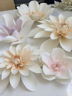 paper flower tutorial Large watercolor paper flowers in soft pastel colors Paper Flowers Craft, Large Paper Flowers, Paper Flower Wall, Crepe Paper Flowers, Paper Flower Backdrop, Giant Paper Flowers, Fake Flowers, Paper Roses, Flower Crafts