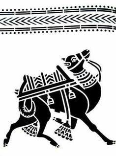Phad Painting, Worli Painting, Fabric Painting, Marker Kunst, Marker Art, Madhubani Art, Madhubani Painting, Traditional Paintings, Traditional Art