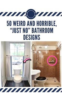 """Conceptualizing a bathroom design means marrying form and function tastefully. Unfortunately, not everybody always gets that memo. Here's to the weird, the funny, and the ones that just make you go, """"What were they thinking?"""" 50 #weird #and #horrible, """"just #no"""" bathroom #designs"""