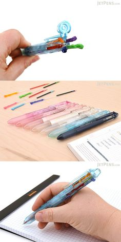 Students Ball-point Pens Short Spin Office School Teens balls Roller PLUS pen