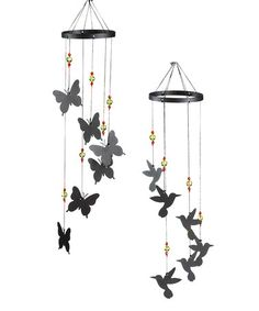 Another great find on #zulily! Butterflies & Hummingbirds Wind Chimes - Set of Two #zulilyfinds