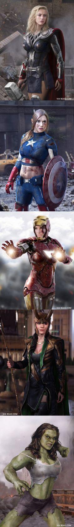Si las mujeres fueran héroes y villanos cual seria la mejor para mi seria loki