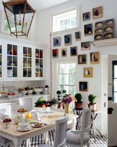 An Art-Packed Kitchen