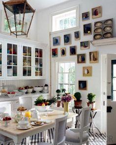An Art-Packed Kitchen