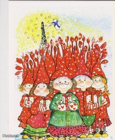 Virpi Pekkala Christmas Cards, Xmas, Christmas Ornaments, Baumgarten, Doodle Drawings, Whimsical Art, Thank You Cards, Glass Art, Illustration Art
