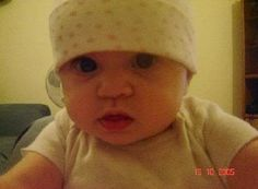 My granddaughter Rylie 5 months old in the United Kingdom.  2005.