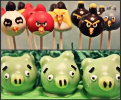 Angry Bird Cake Pops.