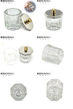 [Visit to Buy] 1pc Crystal Glass Dappen Dish / Lid Bowl Cup Crystal Glass Dish Nail Art Tools Acrylic Nail Art Equipment Mini Bowl Cups #Advertisement