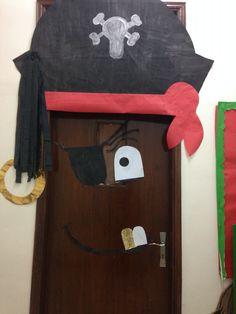 Pirate door Pirate Door, Classroom Door, Classroom Ideas, School 2017, Pirate Treasure, Pirate Theme, Nautical Theme, Doors, School