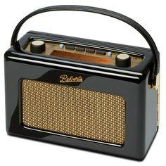 Roberts Revival RD 60 Radio retro DAB+/FM AUX negra: Haz click para agrandar la imagen