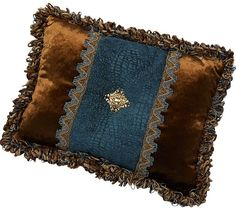 "ACCENT PILLOWS by Reilly-Chance Collections: Pillow #468...(18""x13"")"