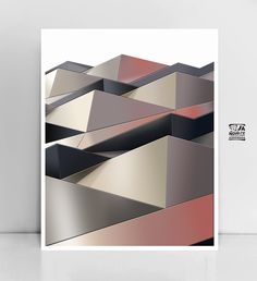 Scandinavian wall art Geometric Poster Abstract by JAnoveltyDeSign Large Wall Prints, Art Prints, Triangle Art, Geometric Poster, Shape And Form, Esty, Modern Wall Art, Etsy Handmade, Scandinavian Design