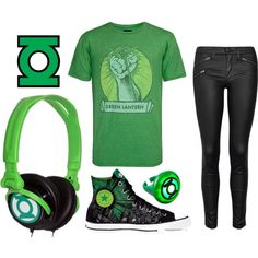 """Hipster Green Lantern"" by lilly-sullivan on Polyvore"
