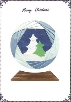 Iris Folding Card Pack Glitter Globe - A fantastic range of Iris Folding Card Pack Glitter Globe in our selections of Dee Crafts Iris Folding Cards from Kards & Krafts. Check out our website for a great range of craft and jewellery making supplies! Paper Folding For Kids, Iris Paper Folding, Iris Folding Templates, Iris Folding Pattern, Xmas Crafts, Paper Crafts, Origami, Glitter Globes, Card Patterns