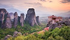 Meet Meteora: The Monasteries In The Sky. UNESCO World Heritage Site, Meteora is located in Greece's Plain of Thessaly, about four hours from Athens. My Athens, Game Of Thrones Locations, Portugal, Travel Goals, Travel Plan, Day Tours, World Heritage Sites, Great Places, Beautiful Places