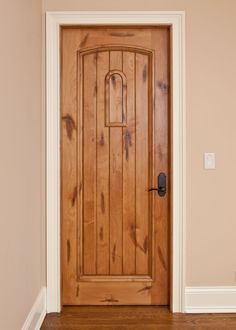 White Trim With Wood Door   Google Search