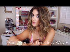 Beachy Effortless Waves - How I Style Short Hair - YouTube