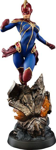 Captain Marvel Premium Format Figure↩☾それはすぐに私は行くべきである。 ∑(O_O;) ☕ upload is LG G5/2016.08.21 with ☯''地獄のテロリスト''☯ (о゚д゚о)♂ More Marvel Statues, Marvel Dc Comics, Ms Marvel, Heros Comics, Marvel Heroes, Comic Books Art, Comic Art, Marvel Characters, Comic Book Characters