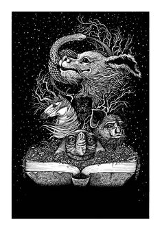 The Geeky Nerfherder: Cool Art: 'The NeverEnding Story' by Jennifer Joslin Neverending Story 3, Story Tattoo, Labyrinth Movie, Auryn, Story Drawing, Witch Tattoo, Fraggle Rock, Childhood Movies, Movie Poster Art