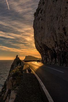 On the Road to Ventimiglia, Italy by Tiziano Valeno… Oh The Places You'll Go, Places To Travel, Places To Visit, Beautiful Sunset, Beautiful Places, Destinations, Landscape Photos, Wonders Of The World, Adventure Travel