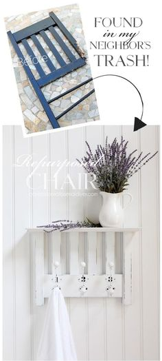 How to turn a chair into a shelf from confessionsofaserialdiyer.com #repurposedfurniture