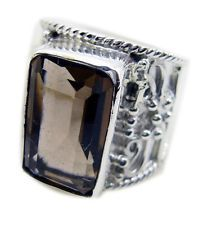 Smoky Quartz 925 Sterling Silver Ring bonnie Brown suppiler AU KMOQ
