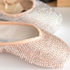 de89813fc8b2 Crystal covered pointe shoe - your worn pointe shoes transformed into a one  of a kind