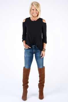 Maybe this cold shoulder sweater is the one. Tried a couple and had fit issues.