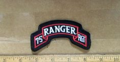Airborne Ranger, 75th Ranger Regiment, Military Special Forces, Embroidered Patch, Us Army, Patches, Camo, Ebay, Signs