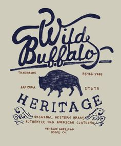 OLD AMERICAN WESTERN by mke design, via Behance