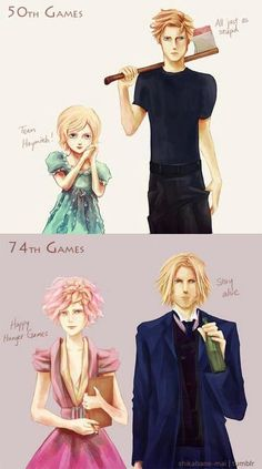 hunger games haymitch and effie - Google Search