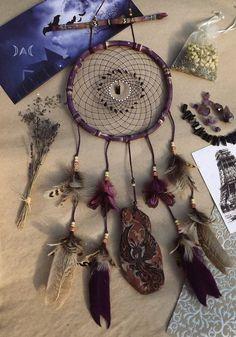 """dreamcatcher in purple colors """"Phoenix"""""""