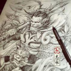 Resultado de imagen de wukong tattoo art