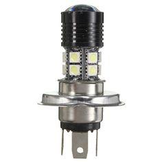 H4 12W White 5050 12SMD LED Car Head Light Bulb