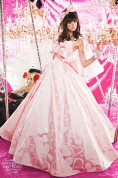 pink wedding gown - Google Search