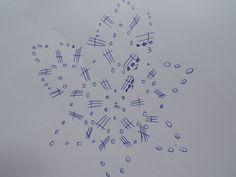 wzór na szydełko- gwiazdka