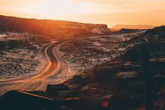 Road near Gullfoss Waterfall in Iceland