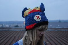 Blue yellow red FISH hat hand knitted by giantscanfly on Etsy Red Fish, Winter Day, Winter Sports, Blue Yellow, Hand Knitting, Crochet Hats, Wool, Stitch, How To Wear