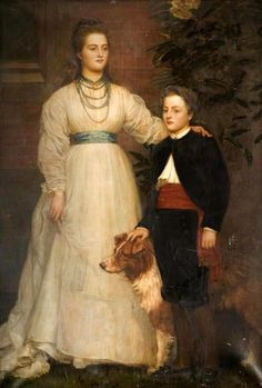 Portrait of Theresa Susey Helen Talbot, Later Marchioness of Londonderry and her son Charles Henry John, Viscount Ingestre by Valentine Cameron Prinsep, unknown date Dante Gabriel Rossetti, Caspar David Friedrich, Marquess, Viscount, William Morris, Eastnor Castle, Charles Vane, John Everett Millais, Julia Margaret Cameron