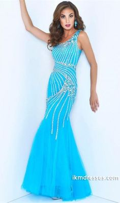 http://www.ikmdresses.com/2014-One-Shoulder-Mermaid-Prom-Dress-Full-Rhinestone-Beaded-Bodice-With-Tulle-Skirt-p84783