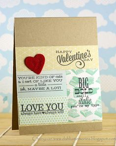 Dahlia Memories: Avery Elle - Lots of Love -  Great masculine Valentine's Day card