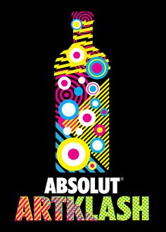 Absolut Artklash poster by The Small Print, Ireland