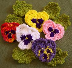 Ravelry: Loomed Pansies pattern by Brenda Myers